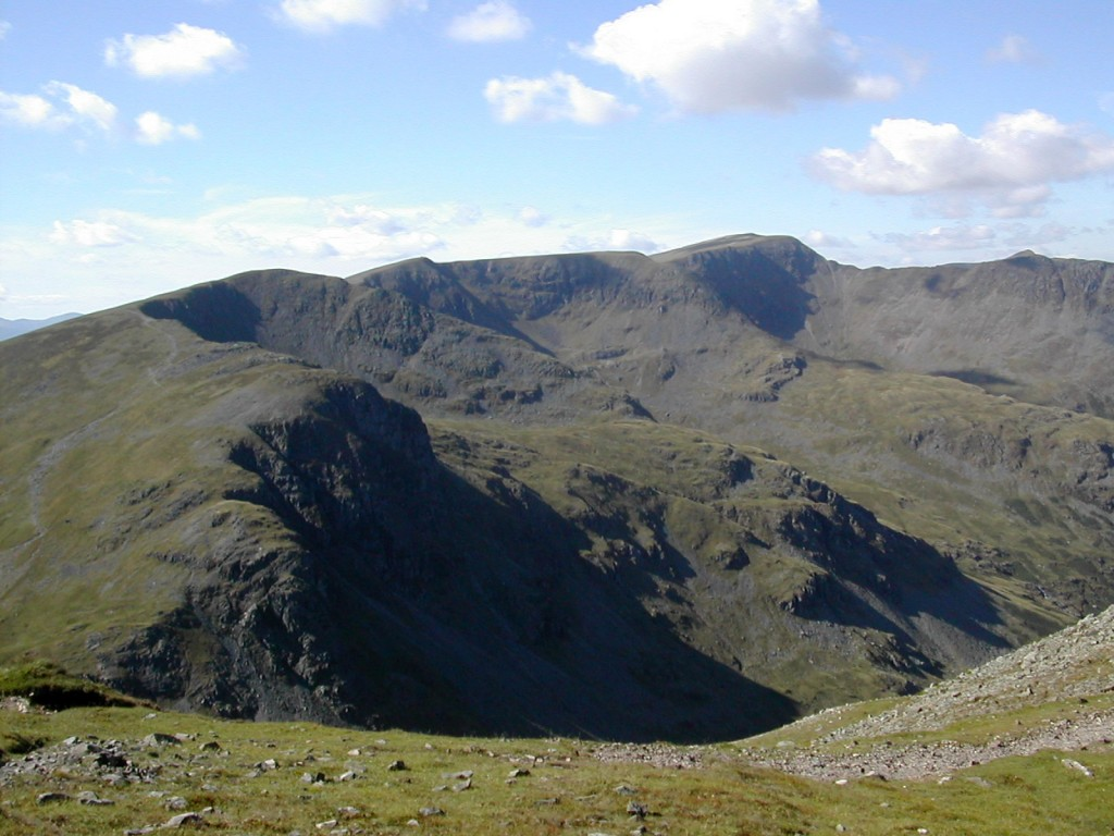 The eastern corries of Helvellyn from Fairfield